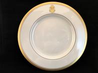 """Gold Butter Dinner Plate 10 7/8"""""""