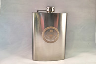 Flask 8 oz. DOS engraved