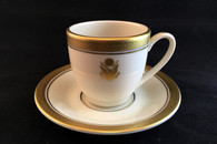 Embassy Demi Cup 4 oz. Gold Embossed  Embassy Demi Saucer 4 1/2""
