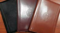 Zippered Genuine Leather Portfolio - DOS Logo