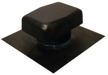 Black metal roof exhaust vent