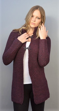 Cardigan with Double Hook Enclosure--Available in 2 Colors