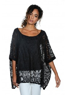 Lace Cape Style A-Line Tunic