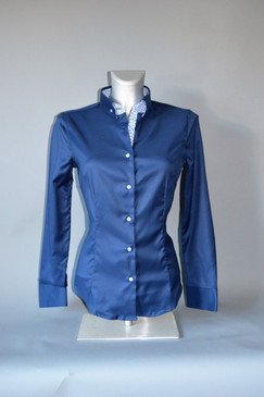 Classic Style Polished Cotton Blouse