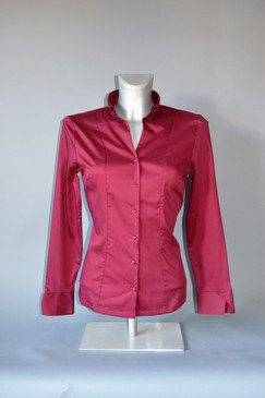Classic Style Blouse with Button Down Collar