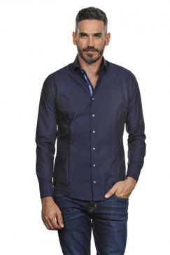 Slim Fit Classic Style Pindot Shirt--Available in 2 Colors