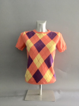 Argyle Pullover Knit Blouse
