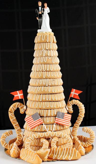 Kransekage Or Almond Ring Cake 12 Ring Olsen S Danish