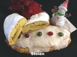 Danish Holiday Stollen - Powdered Sugar