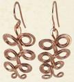 Swirl Leaf Earrings in Copper