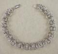 Sterling Silver Orbit Chain Maille Bracelet B42811