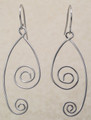 Sterling Silver Double Swirl Earrings