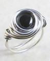 Nested Hematite Ring