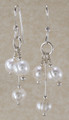 Tri-dangle Freshwater Pearl Earrings