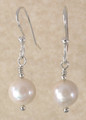 Large Round Freshwater Pearl Earrings