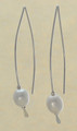 Wire Freshwater Pearl Earrings