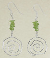 Sterling Silver Swirl Earrings with Peridot