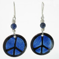Blue Peace Earrings