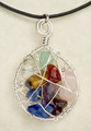 Large Spiritual Webbed Chakra on a Leather Cord