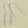 Sterling Silver Oval Freshwater Pearl Earrings
