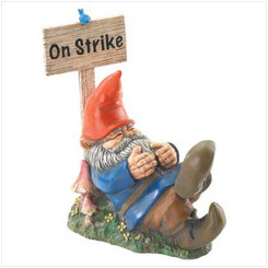 'On Strike' Sleeping Gnome