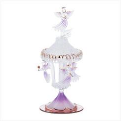 Spun Glass Angel Carousel