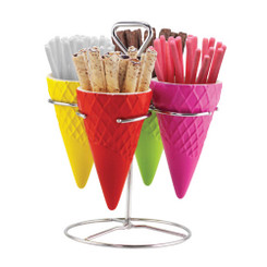 WAFFLE CONE SERVING SET
