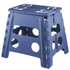 MONACO BLUE FOLD-AWAY STEP STOOL