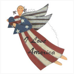 Patriotic Angel Sign