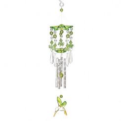 GREEN HUMMINGBIRD CHIMES