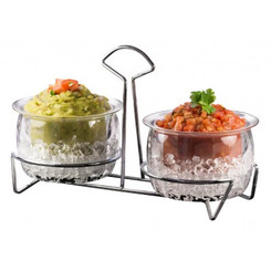 ICE DIP DOUBLE BOWL SET WITH STAND