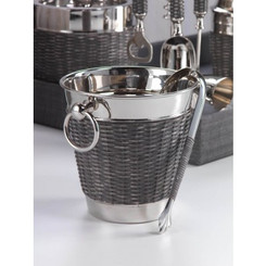 WOVEN CANE WINE CHILLER