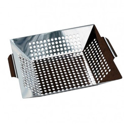STAINLESS STEEL GRILL WOK