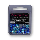 Blue SWAROVSKI ELEMENTS Chaton Mix