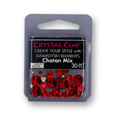 Red SWAROVSKI ELEMENTS Chaton Mix