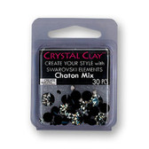 Black SWAROVSKI ELEMENTS Chaton Mix