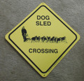 Sled Dog Xing Sign