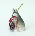 Husky with Harness Ornament