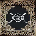 Triple Moon Pentagram Altar/Tarot Cloth