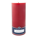 Red Unscented Smooth Pillar Candle