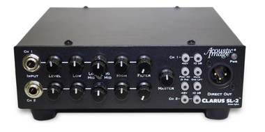 Acoustic Image Clarus SL-2 S4plus 2-channel amp head front image SOUNDISLANDMUSIC.COM