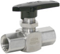 "BALL VALVE 304 S.S. 6000 PSI 3/8"" FPT"
