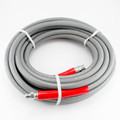 "P/W Hose, Smooth Cover, 4000 psi, GRAY non-marking, 3/8""x 50'"