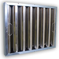 20 x 14 x 2 Kleen Gard Baffle Grease Filter – Stainless Steel with J-Hooks
