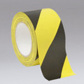 "Black & Yellow Safety Tape 3"" x 60yds (per roll)"