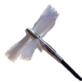 "Nikro 12"" Round Soft White Brush"