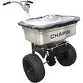 100# Pro All Stainless Hopper & Frame Spreader w/Baffles, Grate & Cover