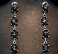 Black Star Diopside Earrings 001