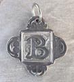 Rustic Monogram B Pendant