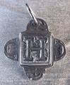 Rustic Monogram H Pendant